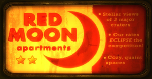 Red moon apartments logo