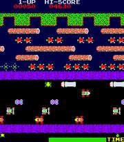 Frogger game arcade
