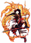 Guilty Gear - Sol Badguy using fire