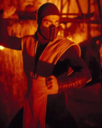 Mortal Kombat - Scorpion played by Chris Casamassa as seen in the Mortal Kombat Movie