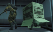 Metal Gear - Solid Snake using a cardboard box