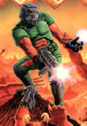 Doom - Doomguy as seen on the front art cover of Doom