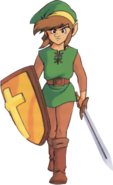 The Legend of Zelda - Link as he appears in Zelda II The Adventures of Link