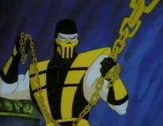 Mortal Kombat - Scorpion as seen in the Cartoon