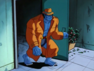 Marvel Comics - Beast wearing a trench coat as seen in the X-Men Cartoon