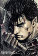 Berserk - Guts holding Dragonslayer as illustrated by Miura Kentarou