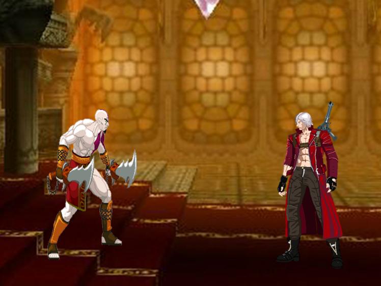 Dante VS Kratos- Fight Scene