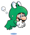 Super Mario Brothers - Mario in his frog suit as seen in Super Mario Brothers 3