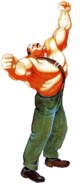 Final Fight - Mike Hagger as he appears in the Sega CD version of Final Fight