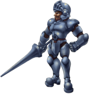 Ghosts 'n Goblins - Sir Arthur as he appears in Gold Knights
