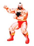 Street Fighter - Zangief as he appears in Street Fighter II