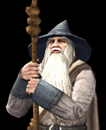 The Lord of The Rings - Gandalf as he appears in The Lord of The Rings Online