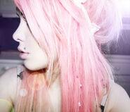 Pink hair girly