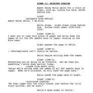 Musical script screenshot of Light and Haley Belle