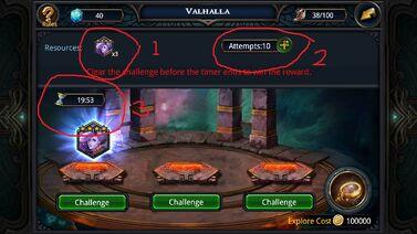 Valhalla Challege page