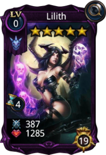Lilith creature card