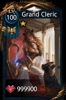 Grand cleric card