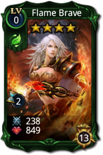 Flame Brave Card