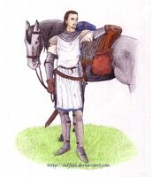 Sir Edward and his mount color by Aelfeth