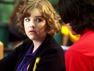 Eli Talking To Clare At Degrassi In Their Degrassi Uniforms With A Concerned Look On Clare's Face