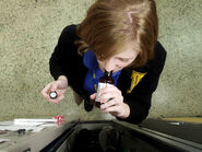 Holly J In Her Degrassi Uniform At Her Locker Self-Medicating
