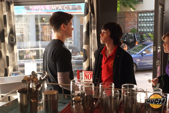 File:Eli & Clare In Their Degrassi uniforms At The Dot& Eli Looking Super Pissed At Fitz With Clare Close Behind Eli.jpg