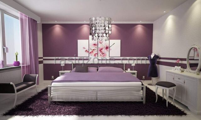 Luxury Bedrooms For Young Women image - luxury-purple-bedroom-interior-design-the-comfortable-and