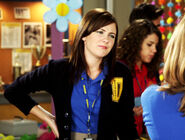 Anya & Holly J In Their Degrassi Uniforms Talking At Degrassi