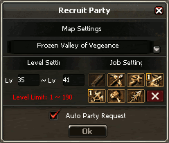 Interface Party Recruit