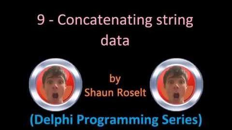 Delphi Programming Series 9 - Concatenating string data