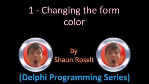 Delphi Programming Series 1 - Changing the form color.