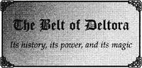 The Belt of Deltora book title