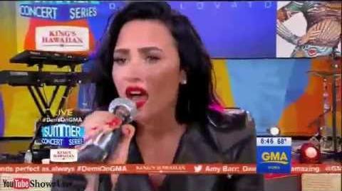 Demi Lovato ft Brad Paisley - Stone Cold (LIVE Good Morning America 2016)