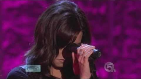 "Demi Lovato Live on Ellen ""Don´t Forget"""