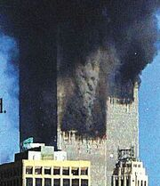 Devil in smoke twin towers