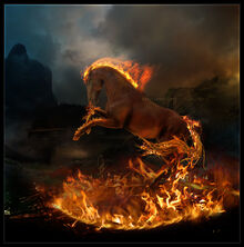 Horse on Fire by WebMasterGrade