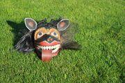 Mask of the demon Maha Sohona Yakka from Ambalangoda Masks Museum