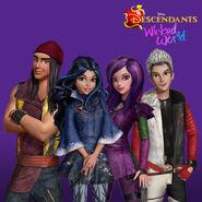 Wicked World - Jay, Evie, Mal, Carlos
