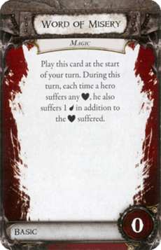 Overlord Card - Word of Misery