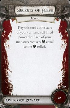 Overlord Card - Secrets of Flesh
