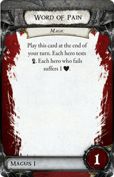 Overlord Card - Word of Pain