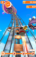 Girl Minion on Rollercoaster