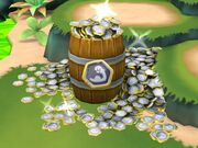 Barrel of minion level up tokens