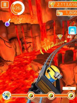 Minion Rush Jerry in the Volcano