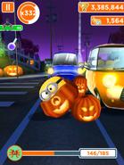 Jerry in a broken pumpkin