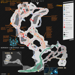 Gorgon Labyrinth Map