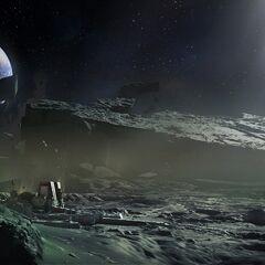 月面のコンセプトアート。