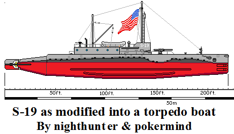 S-19 converted into torpedo boat