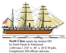 Scott Class square rig steamer DD