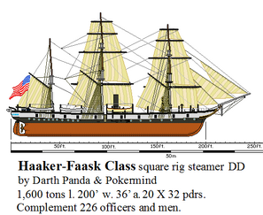 Haaker-Faask Class square rig steamer DD